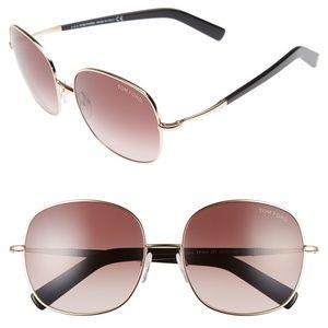 New TOM FORD Georgina Rounded Square Sunglasses